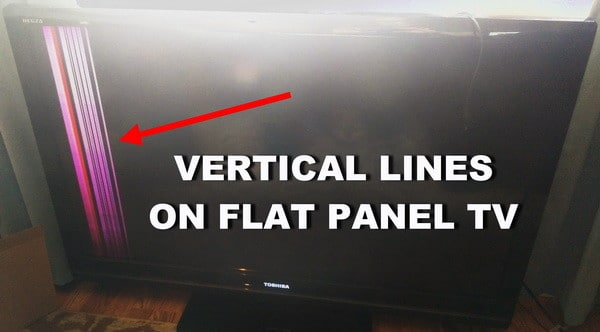 tv repair - vertical lines on flat panel TV