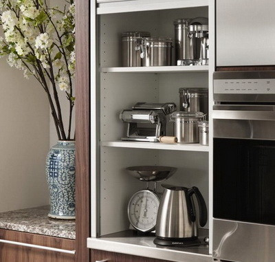 Small Kitchen Appliance Cabinet