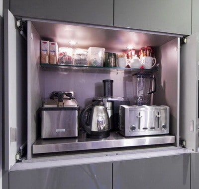 40 appliance storage ideas for smaller kitchens for Small dishwashers for small kitchens