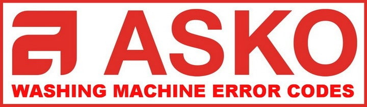 Asko Washing Machine Error Codes