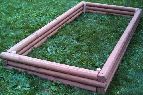 DIY Landscaping Timbers Raised Garden Bed_02
