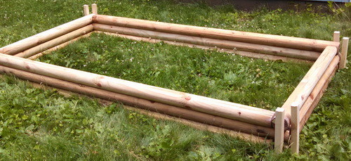DIY Landscaping Timbers Raised Garden Bed_03