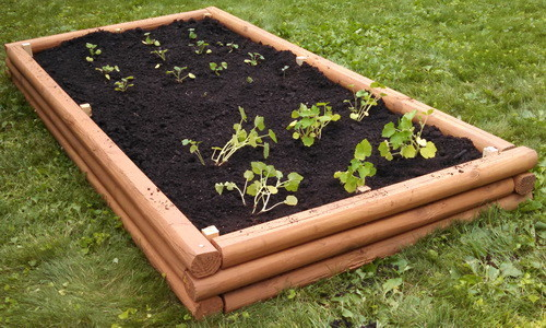 DIY Landscaping Timbers Raised Garden Bed_15