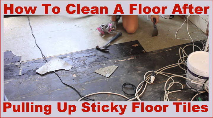 How To Clean A Sticky Floor After Pulling Up Old Cheap Peel And Stick Floor Tiles