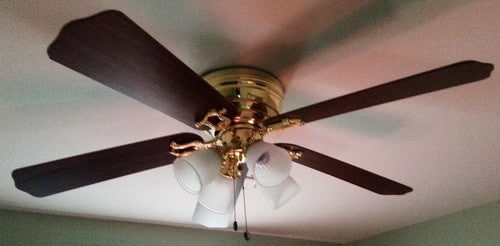 How to modernize an outdated ceiling fan fast cheap diy paint it how to modernize an outdated ceiling fan fast cheap diy paint it2 mozeypictures Image collections