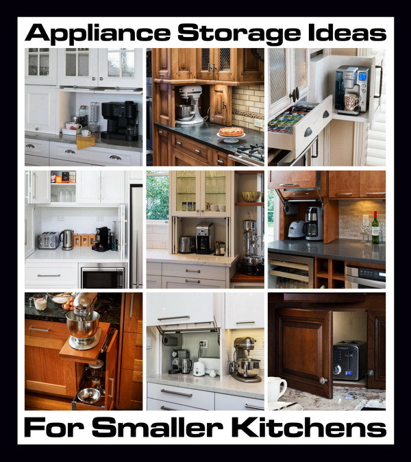 Kitchen Appliance Storage Ideas Part - 22: Appliance Storage Ideas For Small Kitchens