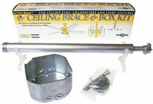 ceiling fan brace and box kit