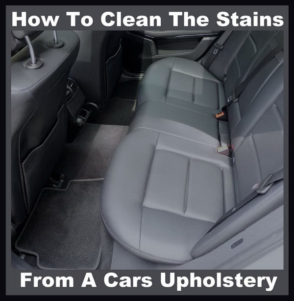 clean dirty car upholstery