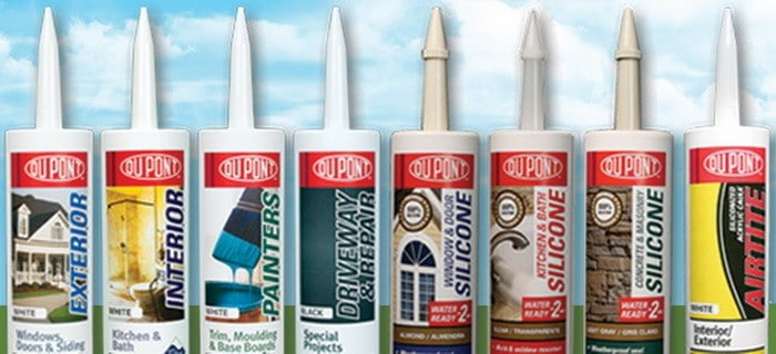 DUPONT caulk and silicone is best for bathrooms