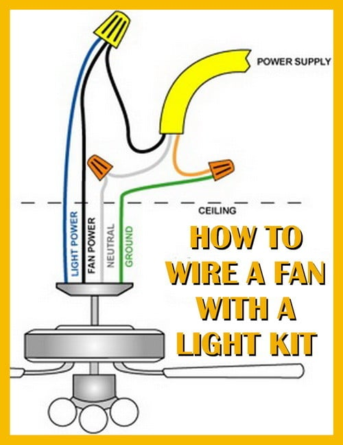 how to wire a ceiling fan with a light kit