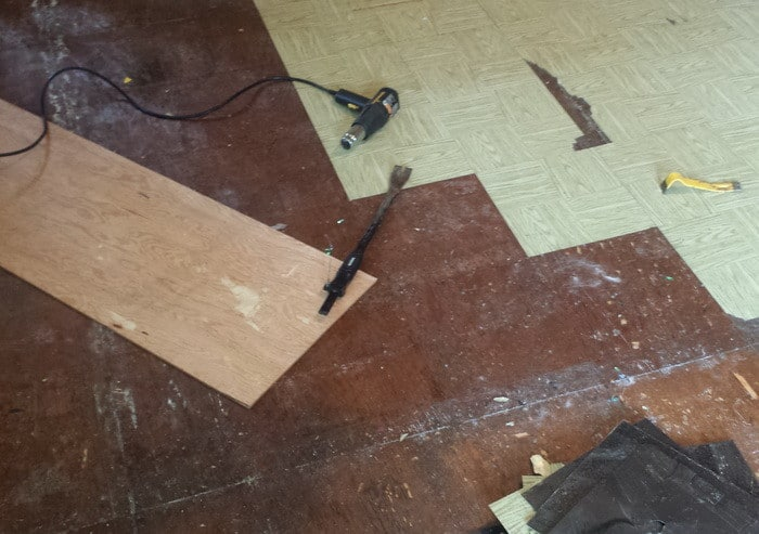 Removing Old Cheap Peel And Stick Floor Tiles