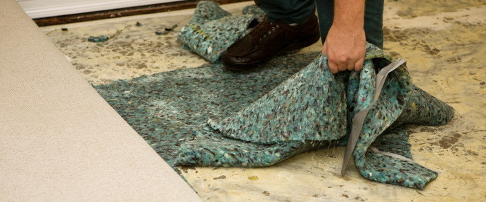 replace damaged carpet