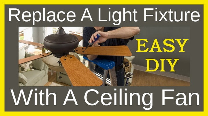 Replace a light fixture with a ceiling fan replace light fixture with ceiling fan aloadofball