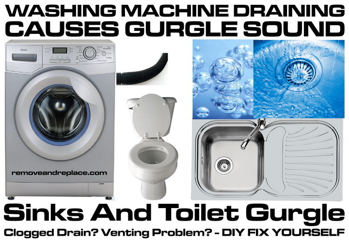 bathroom sink gurgles when draining washing machine draining causes sinks and toilet to gurgle 22338