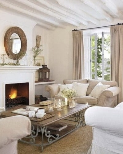 30 Ultra Neutral Living Room Design Ideas_19