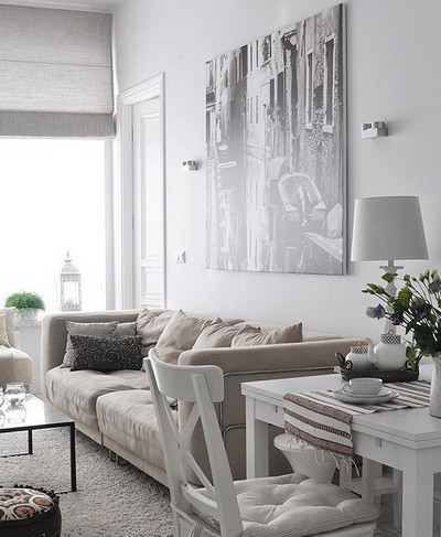 30 Ultra Neutral Living Room Design Ideas_21