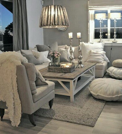 30 Ultra Neutral Living Room Design Ideas_26
