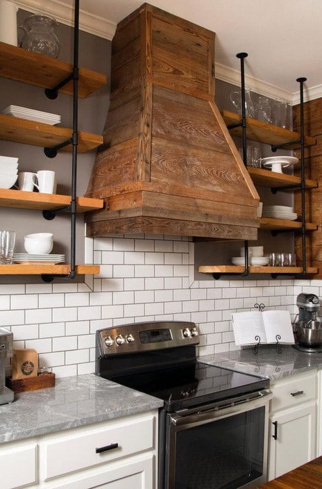 Kitchen Range Hood Design Ideas modern small kitchen design ideas with white cabinetry wiht granite countetop also drawers and lockers storages also kitchen range hoods also recessed 40 Kitchen Vent Range Hood Design Ideas_03
