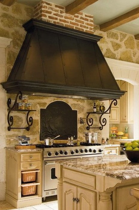 40 Kitchen Vent Range Hood Design Ideas_15