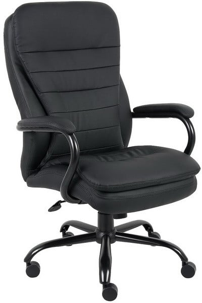 Boss B991-CP Heavy Duty Double Plush Caressoftplus Chair, 350-Pound