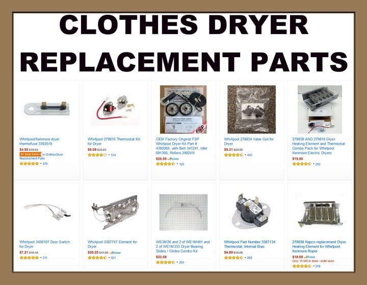 Clothes Dryer Parts ~ Clothes dryer will not stay on after pushing start button