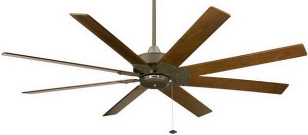 Fanimation FP7910OB Levon Ceiling Fan, Oil Rubbed Bronze Finish, 8 Walnut Finish Blades