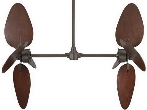 Fanimation Palisade Oil-Rubbed Bronze Ceiling Fan with Cairo Purple Wide Oval Wood Blades