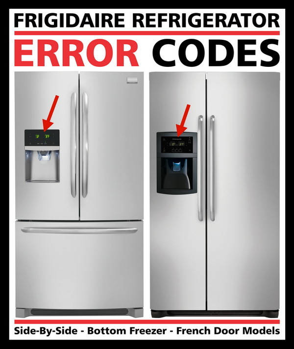 frigidaire refrigerator error codes fault codes us3. Black Bedroom Furniture Sets. Home Design Ideas
