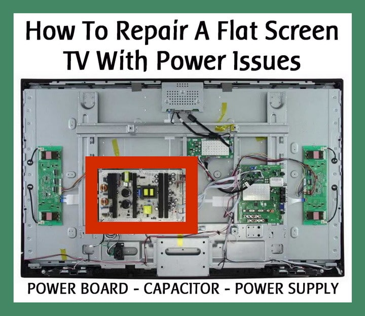 FLAT PANEL TV POWER SUPPLY 16 VOLT CAPACITOR REPAIR KIT