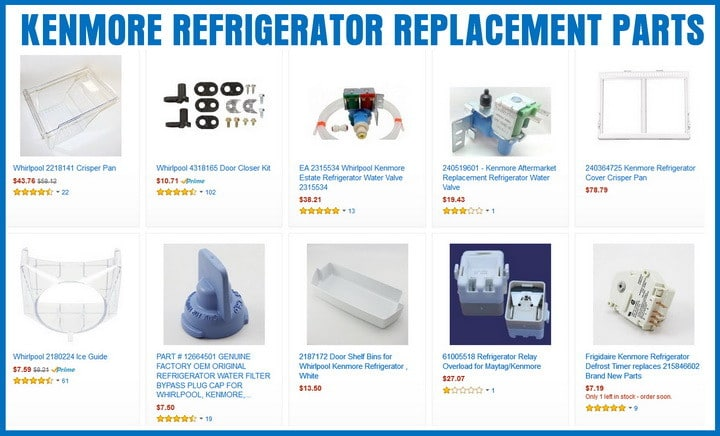 KENMORE REFRIGERATOR REPLACEMENT PARTS