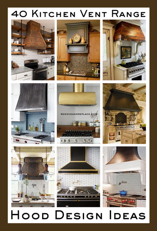 Kitchen Vent Range Hood Design Ideas