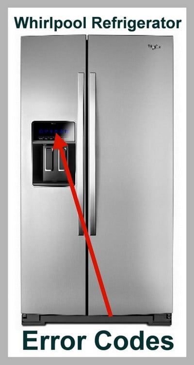 whirlpool refrigerator error codes - display code reset