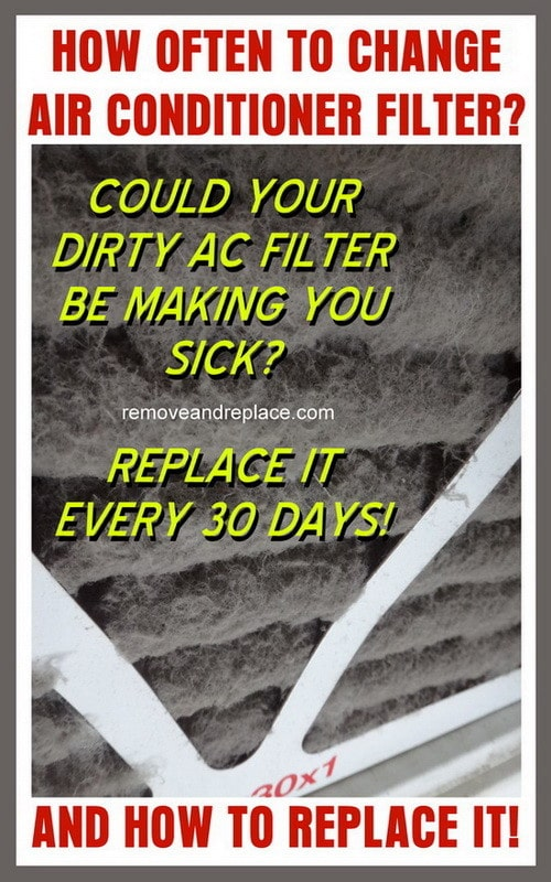 dirty ac air filter making you sick