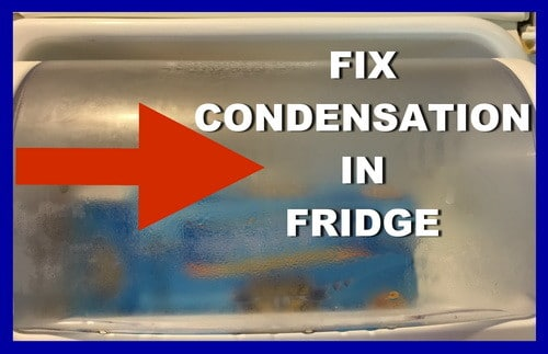 fix condensation in fridge