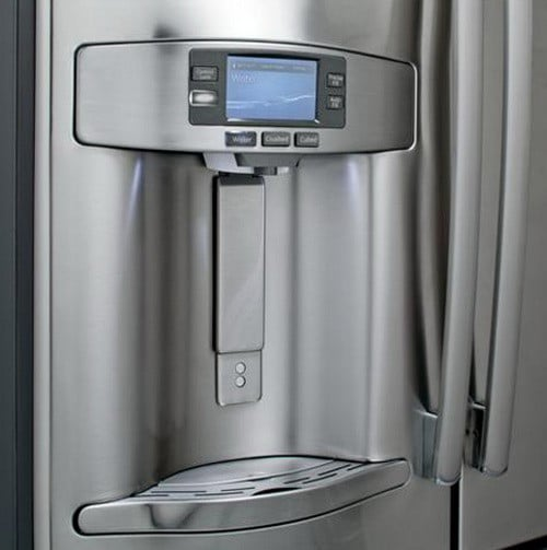 ge refrigerator dispenser and led lcd panel
