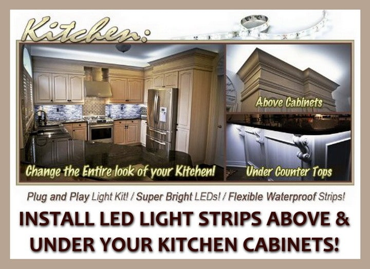 install led light strips under kitchen cabinets