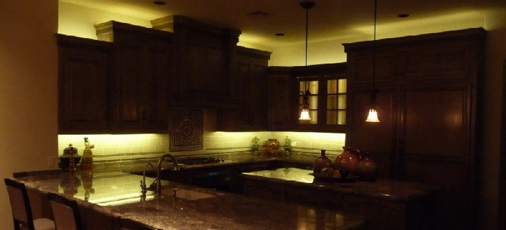 Kitchen Cabinets With LED Lighting