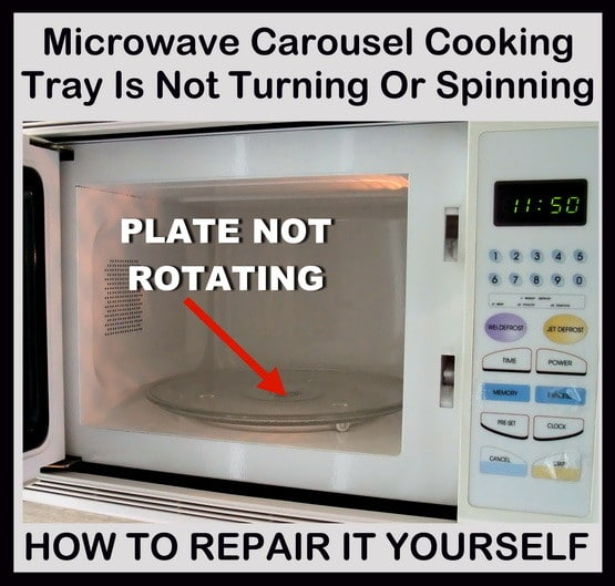 microwave plate not turning