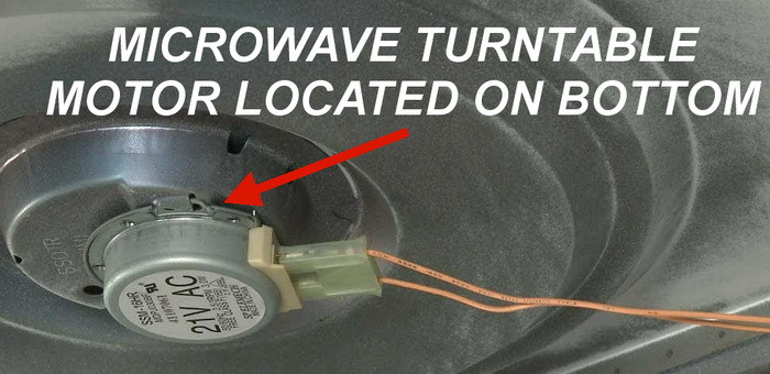 Microwave Turntable Motor Is Located Under The