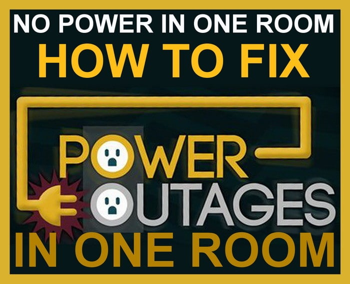 power out in one room