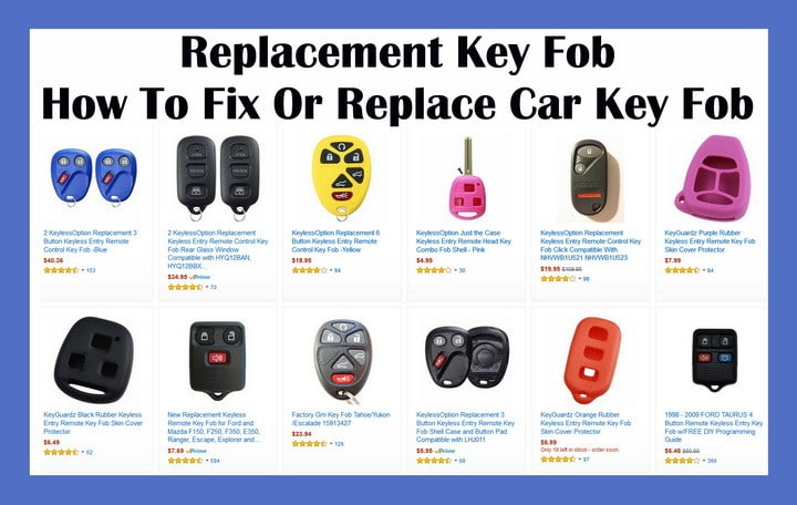 How To Fix Replace  Program Car Key Fob  Replacement Key Fob