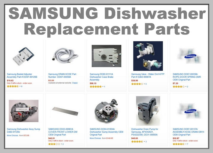 samsung dishwasher replacement parts