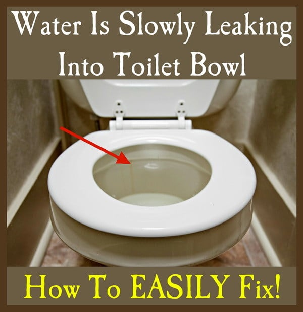 toilet bowl slow leak