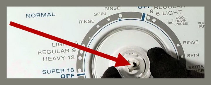 how to fix washing machine knob