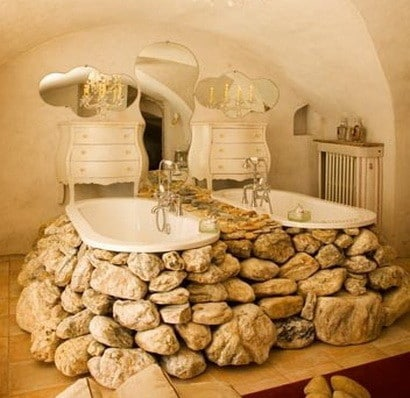 30 bathroom design ideas made from stone_03