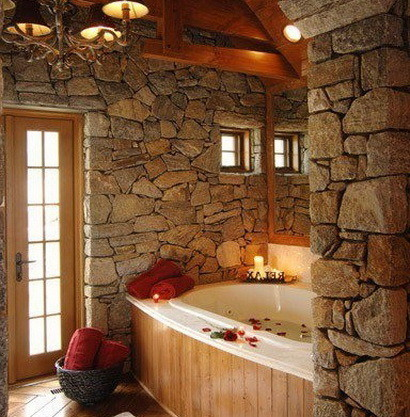 30 bathroom design ideas made from stone_05