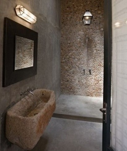 30 bathroom design ideas made from stone_12