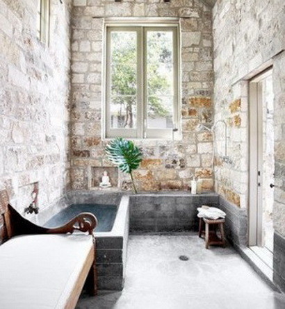 30 bathroom design ideas made from stone_16