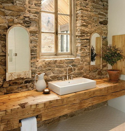 30 bathroom design ideas made from stone_17