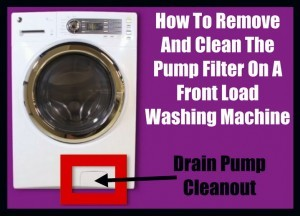 How To Clean Pump Filter On A Front Load Washer Drain